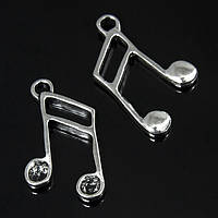 Кулон Муз. инструменты, Металл, Цвет: Античное Серебро, Размер: 27x15x3мм, Отверстие 2.5мм, (УТ100008715)