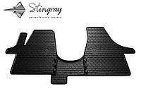 Stingray Модельные автоковрики в салон Фольксваген Т5 (1+2) 2003- Комплект из 3-х ковриков (Черный)
