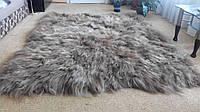 Ковер из шкурок исландской овчины (коричневый)