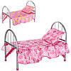 Кроватка 9342 / WS 2772  для куклы,жел,45-32-25см,подушка,в кульке,74-26-4см