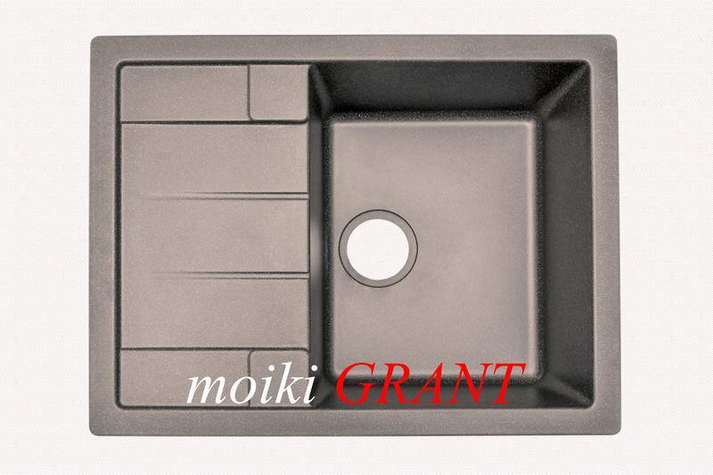 Кухонная мойка серого цвета купить смесители миглиоре