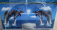"""Комод пластиковый с рисунком """"Дельфины""""  Elif Plastik,  Турция"""