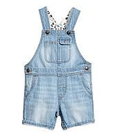 Детский джинсовый полукомбинезон  6-9, 9-12, 12-18, месяцев, 1,5-2 года, фото 1
