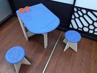 Деревянный столик и 2 стульчика СИНИЙ,Украина,SPLAV