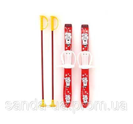 Лыжи детские с палками 70 см,Marmat,6081