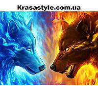 Алмазная вышивка Волки, Лед и Пламя, фото 1