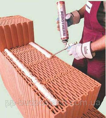 Кладка поризованной керамики на пену