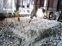 Демонтаж фундамента, демонтаж фундаментных блоков, разрушение бетона, резка, фрезеровка бетона.
