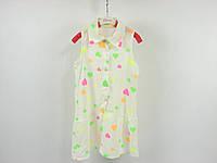 Детская одежда: платье на пуговицах для девочки: G-1598,р.4,6,8,10,12,14 лет