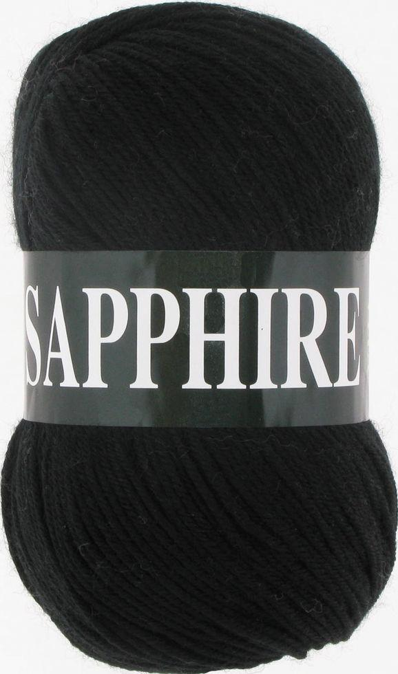 Пряжа Сапфир Sapphire Vita, № 1502, черный