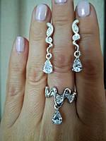 Ювелирные украшения из серебра - кольцо и серьги
