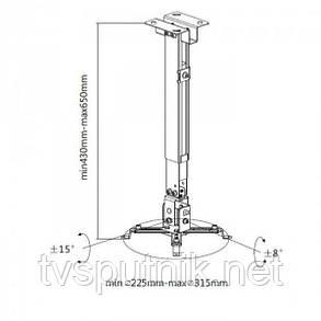Настенно-потолочный кронштейн для проектора ITECH PRB-15, фото 2