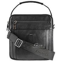 Мужская кожаная сумка чёрная Eminsa 6136-37-1
