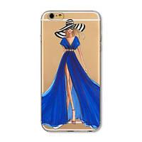 Силиконовый чехол Girl in a Blue Dress для iPhone 8