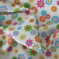Ткань для детской цветочки испания. яркие оттенки внутри, фото 1
