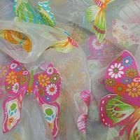 Ткани компаньоны для детской бабочки. тюль. испания