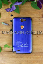 """Купить чехол накладку для Samsung GALAXY Note II, N7100 """"Ferrari"""" indigo"""