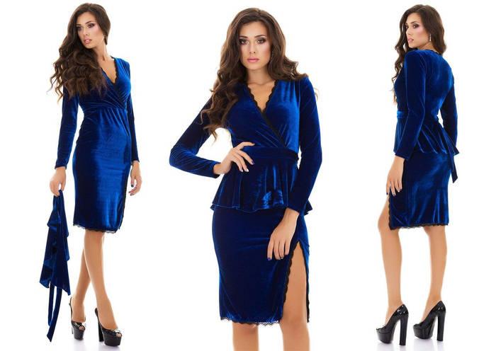 Платья из велюра Женские Магазин модной одежды 192