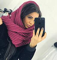 Шарф-хомут восьмерка снуд стильный модный красивая вязка разные цвета SHv51