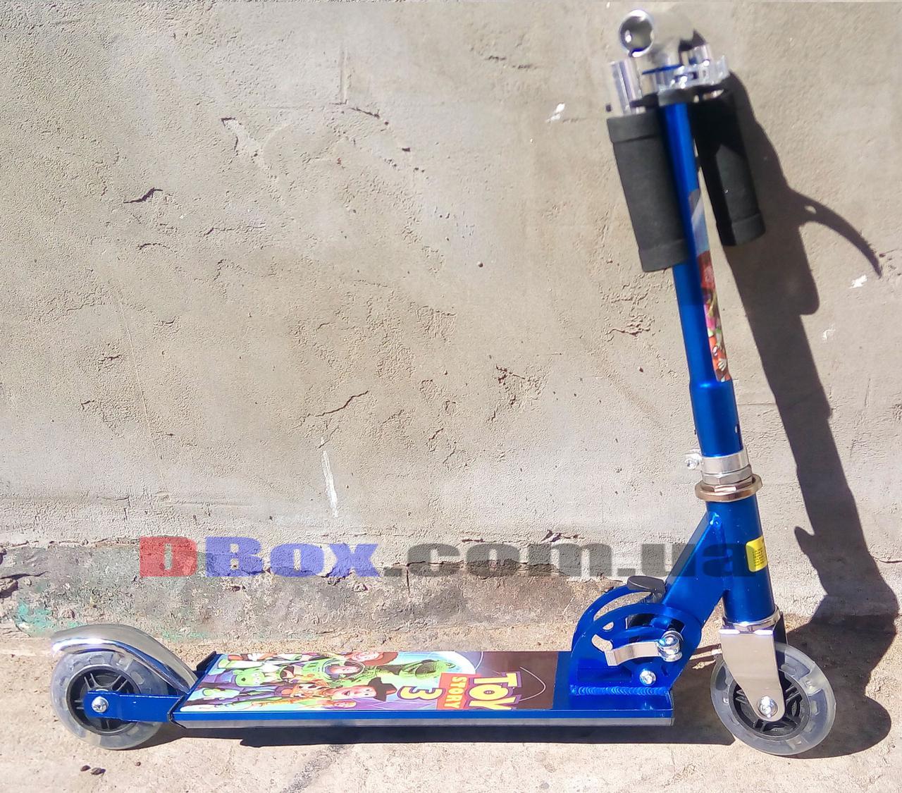 Самокат детский двухколесный Toys Игрушки Алюминиевый