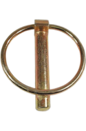 Шплинт (штифт) с кольцом 6  цинк желтый UMP77