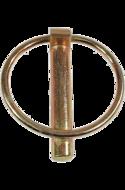 Шплинт (штифт) с кольцом 8  цинк желтый UMP77
