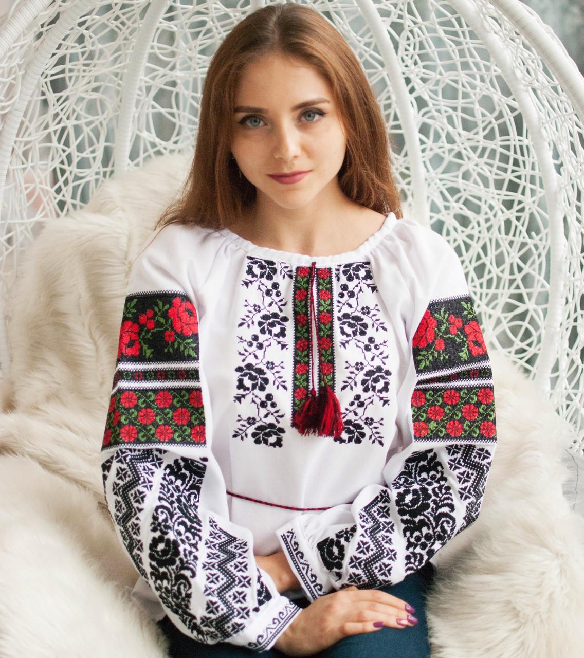 Вишиванка (домоткане полотно) Борщівська троянда-2  продажа 8272f33d7a0fb