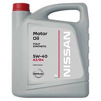 Синтетическое моторное масло оригинал Nissan Ниссан SAE 5W-40  KE900-90042