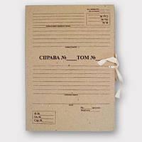 Папка архивная  с завязками с титульной страницей Высота корешка 20 мм 230*320 мм беж ПАЗТ-20 (10шт), фото 1