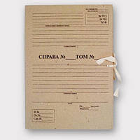 Папка архивная ЦОД НТИ с завязками с титульной страницей Высота корешка 40 мм 230*320 мм бежевая ПАЗТ-40 , фото 1