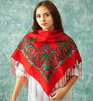 Українська хустка (90х90 см, червона) Класика