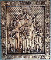 Икона Вера, Надежда, Любовь и мать их София (300Х360х25 мм)