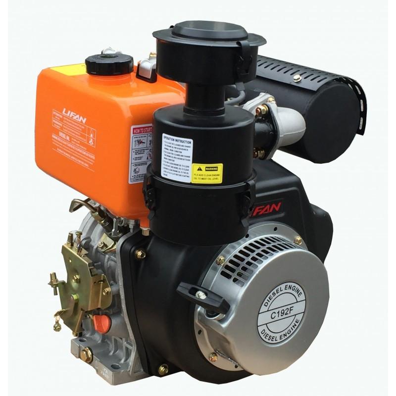 Дизельный двигатель LIFAN С190FD 11 л.с.с электростартером (шпонка 25 мм)