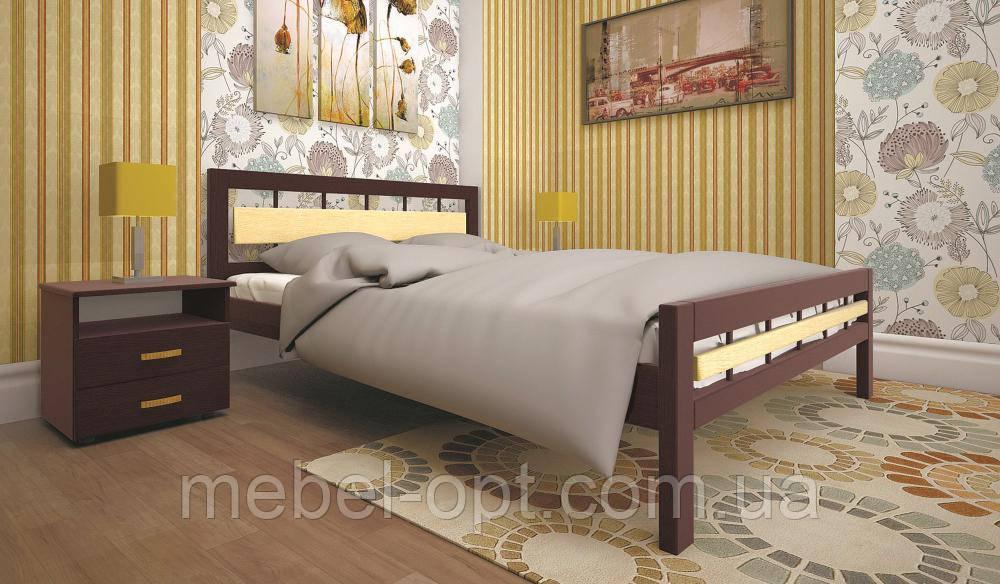 Кровать ТИС МОДЕРН 3 140*190 сосна