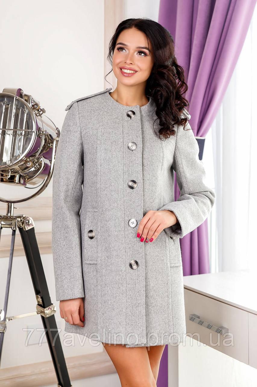 Пальто женское стильное серое