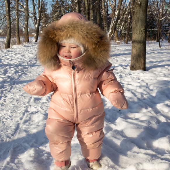 Теплий зимовий комбінезон - пуховик для немовлят - Інтернет-магазин дитячого  та жіночого одягу