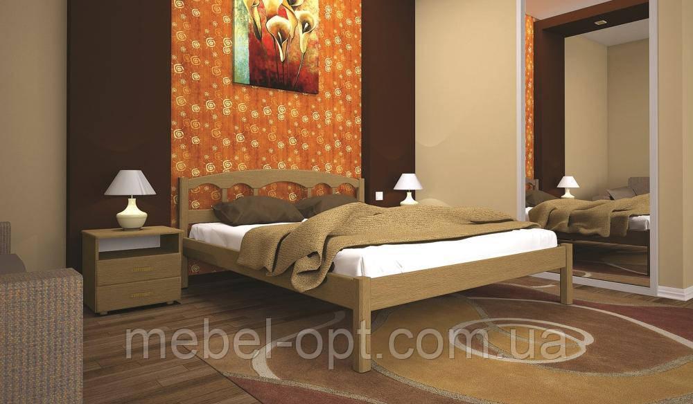 Кровать ТИС ОМЕГА 1 140*190 дуб