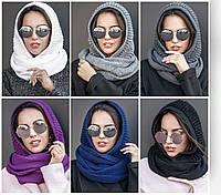 Вязаный снуд 182 (шарф-хомут)
