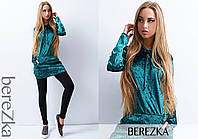 Платье-туника стильное мраморный велюр 3 цвета 6SMb1800