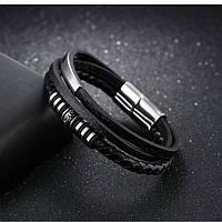 Мужской браслет кожаный в скандинавском стиле, фото 1