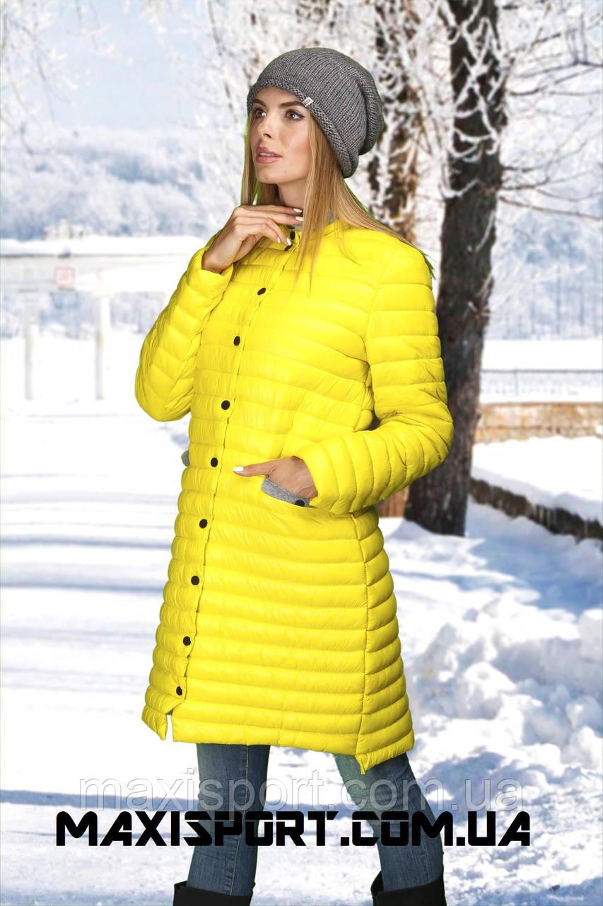 Женское полупальто freever 1602 желтый