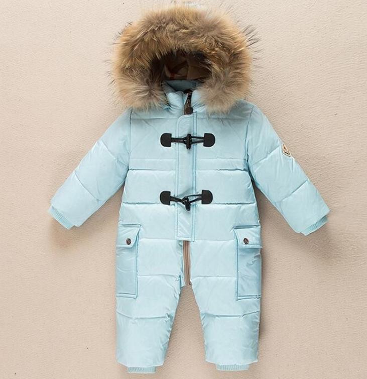 Дуже теплий зимовий комбінезон - пуховик для немовлят - Інтернет-магазин  дитячого та жіночого одягу ff7c4d994586e