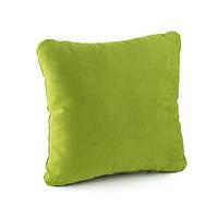 Подушка декоративная квадратная, зеленый флок_под нанесение, фото 1