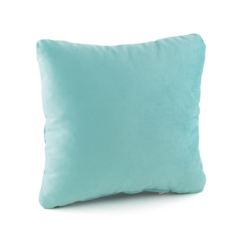 Подушка декоративная квадратная, светло голубой флок_под нанесение, фото 1