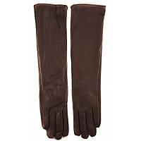 Длинные кожаные женские перчатки ПЖ1026