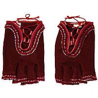 Перчатки женские спортивные шерстяные с рюшками ПЖ1073