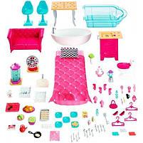 Ігровий набір Barbie Dreamhouse Барбі Будинок мрії Малібу 3-х поверховий з ліфтом і басейном FFY84, фото 5
