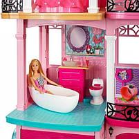Ігровий набір Barbie Dreamhouse Барбі Будинок мрії Малібу 3-х поверховий з ліфтом і басейном FFY84, фото 8