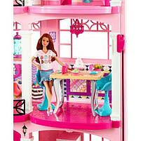 Ігровий набір Barbie Dreamhouse Барбі Будинок мрії Малібу 3-х поверховий з ліфтом і басейном FFY84, фото 9