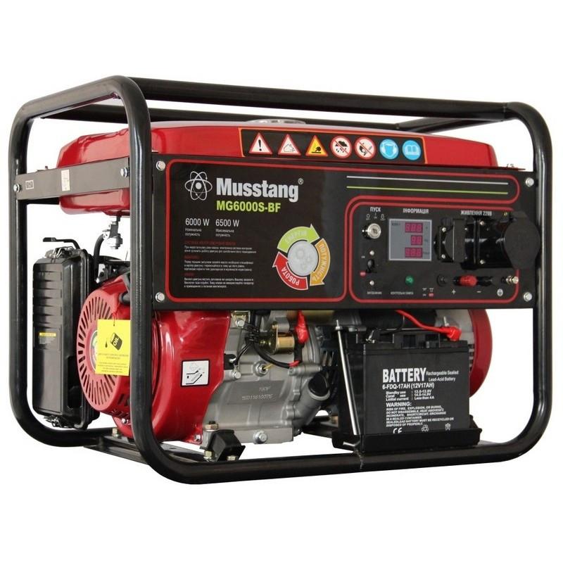 Генератор комбинированный Musstang MG6000S-BF/32 A - Bi Fuel (газ/бензин)